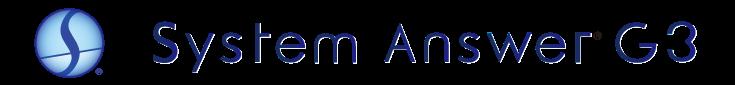 System Answer G3|システム情報管理ソフト|インタビュー掲載