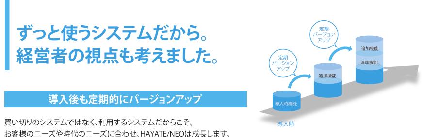 HAYATE定期的なバージョンアップ