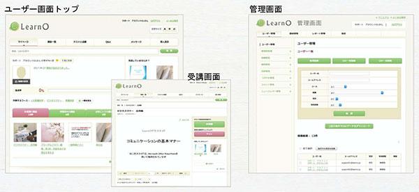 ユーザー画面トップ、受講画面、管理画面